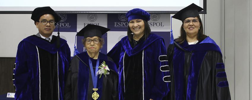 ESPOL otorgó el grado de Doctora Honoris Causa a científica Flor de María Valverde Badillo