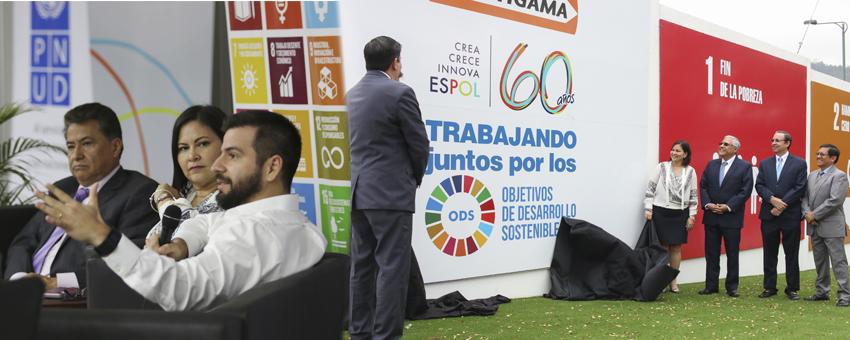 Muro de los Objetivos de Desarrollo Sostenible en ESPOL