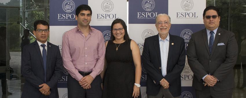 Vicepresidente Otto Sonnenholzner se reunió con autoridades de la ESPOL