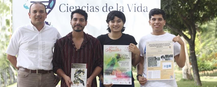 Estudiantes de la Facultad de Ciencias de la Vida destacan en congreso de Ornitología