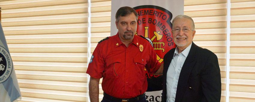 Espol entrega en comodato un terreno para uso del Benemérito Cuerpo de Bomberos de Guayaquil