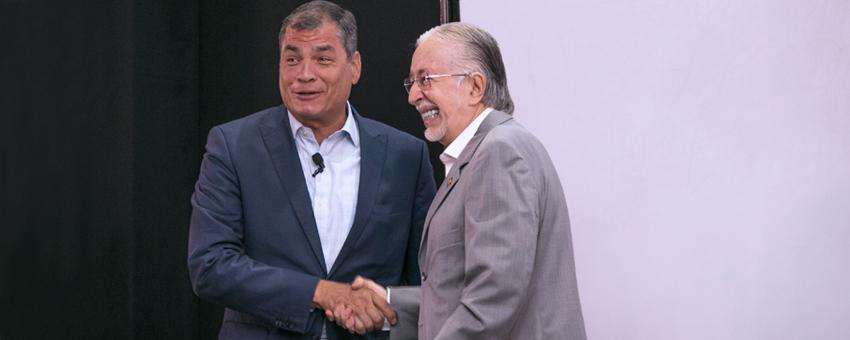 Rafael Correa presentó cátedra magistral en la ESPOL