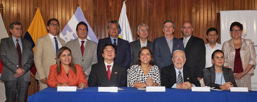 ESPOL y varias universidades del país suscriben convenio con Miduvi para fortalecer laboratorios que aportarán al análisis del Banco de Suelos