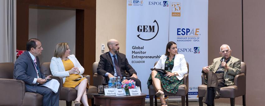 ESPAE-ESPOL presenta resultados sobre emprendimiento en Ecuador